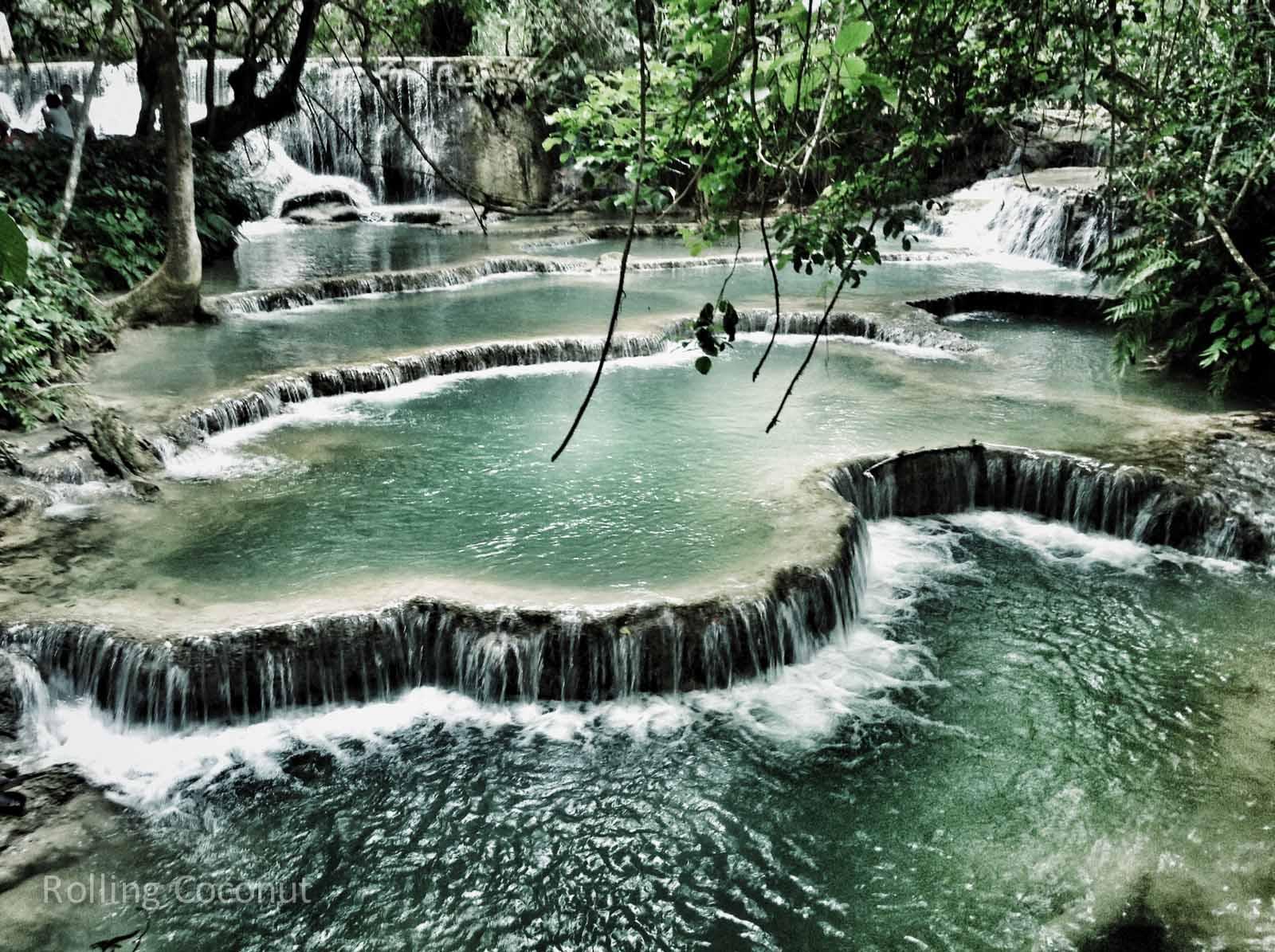 Kuang Si Falls Luang Prabang Laos Rolling Coconut Ooaworld Photo Ooaworld