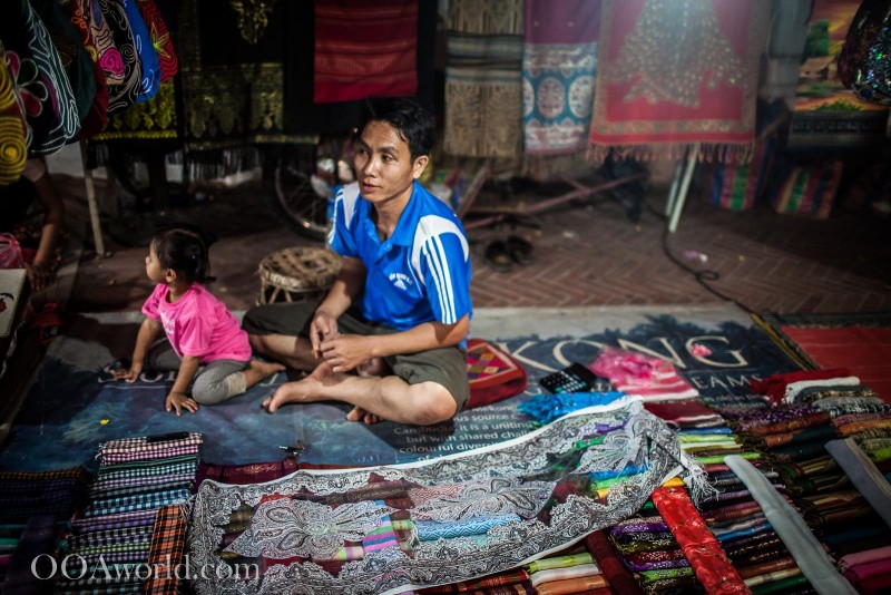 Father and Daughter Luang Prabang Market Photo Ooaworld