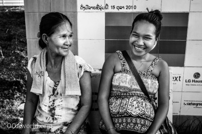 Mother Daughter Vientiane Laos Photo Ooaworld