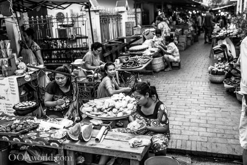 Luang Prabang Market Laos Photo Ooaworld