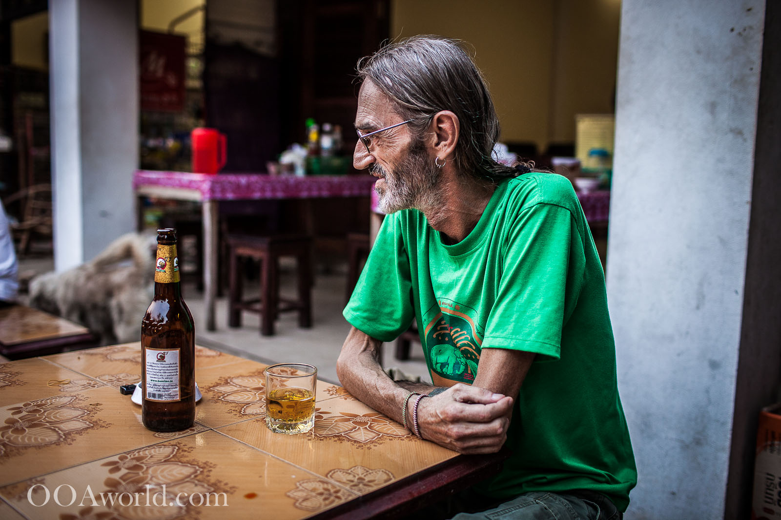Luang Prabang Photo Portrait Expat Beer Photo Ooaworld