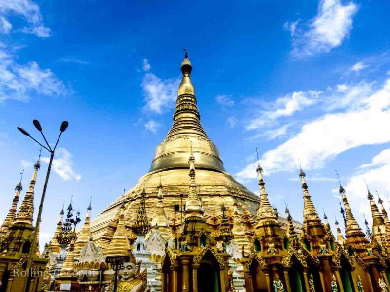 Myanmar Itinerary Yangon Shwedagon Pagoda Rolling Coconut Ooaworld Photo Ooaworld