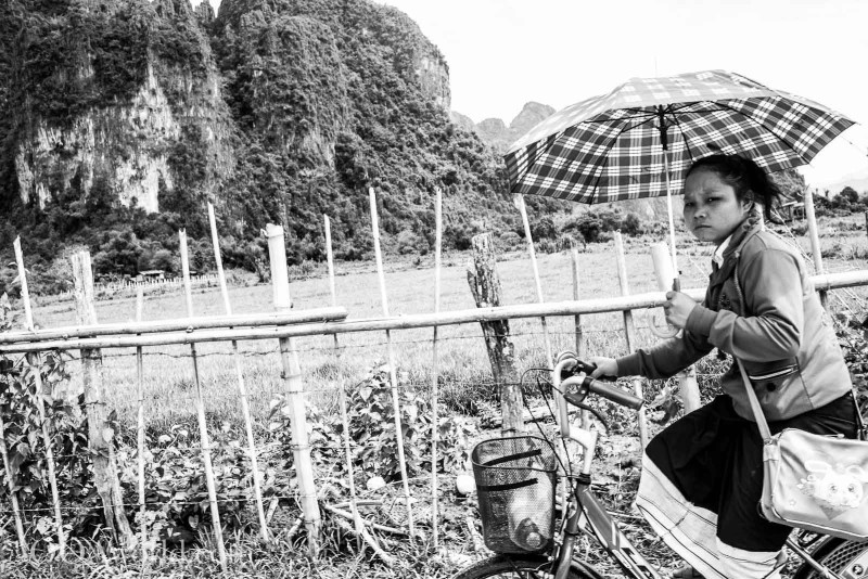 Vang Vieng Bicycle Photo Ooaworld