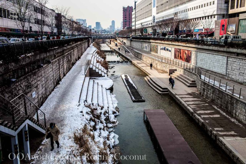 Cheonggyecheon Stream Seoul Photo Ooaworld