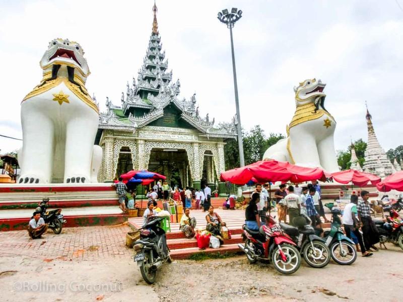 Entrance to the Mahamuni Buddha Temple Mandalay Myanmar Photo Ooaworld