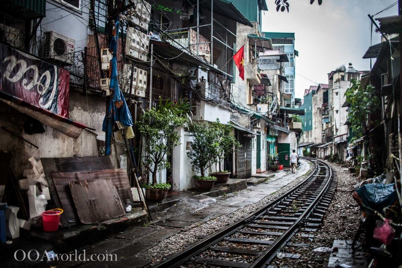 Hanoi Vietnam City Train Photo Ooaworld