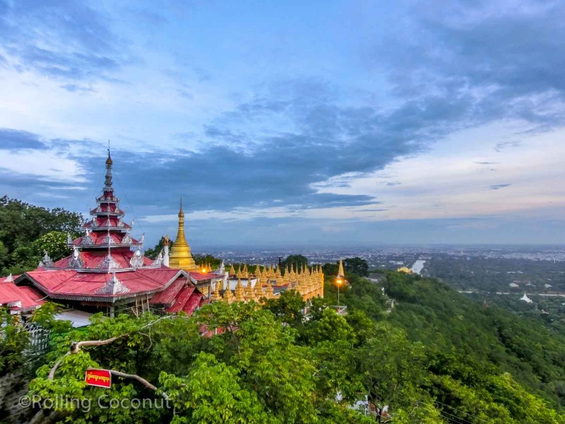 Pagodas Mandalay HIll Myanmar Photo Ooaworld