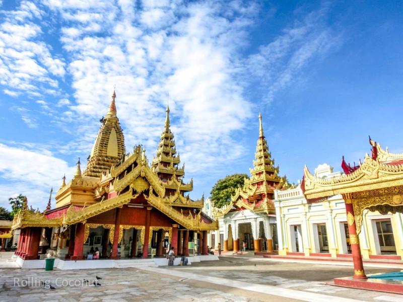 Shwezigon Golden Temple Bagan Myanmar Ooaworld Rolling Coconut Photo Ooaworld