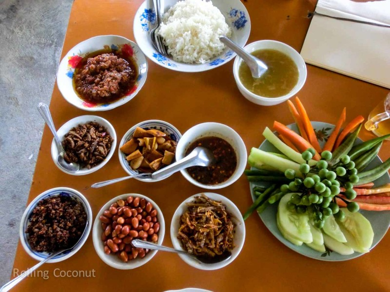 Lunch Food Inle Lake Myanmar ooaworld Rolling Coconut Photo Ooaworld