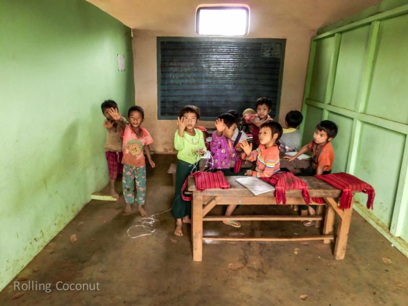 Kalaw Inle Lake Trek Myanmar Local School Photo Ooaworld