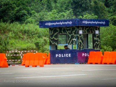 Guard Post Parliament Building Naypyidaw Myanmar ooaworld Rolling Coconut Photo Ooaworld