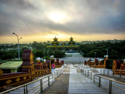 Stairs at Uppatasanti Pagoda Naypyidaw Myanmar Ooaworld Rolling Coconut Photo Ooaworld