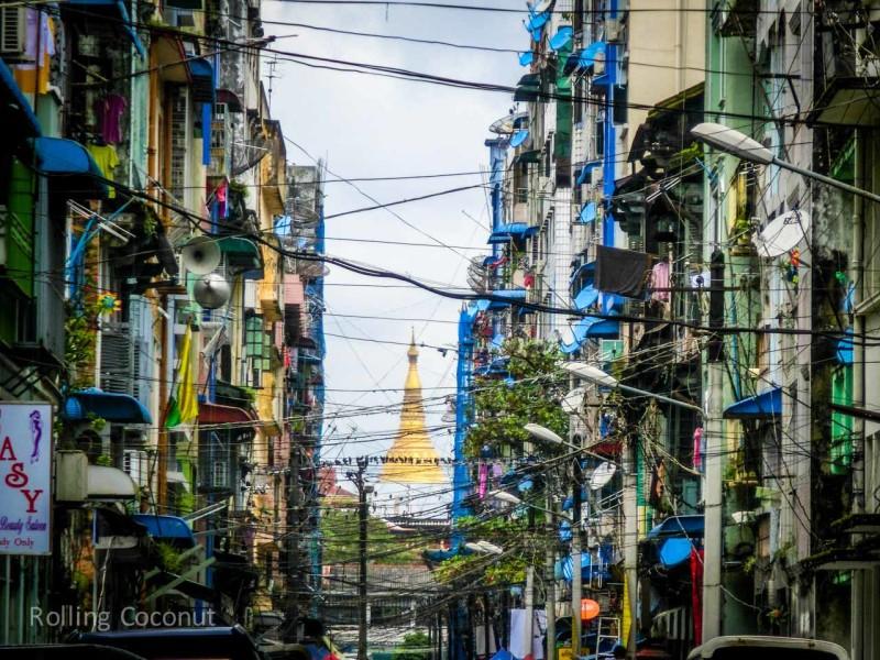 Window Cables Apartments Yangon Myanmar ooaworld Rolling Coconut Photo Ooaworld