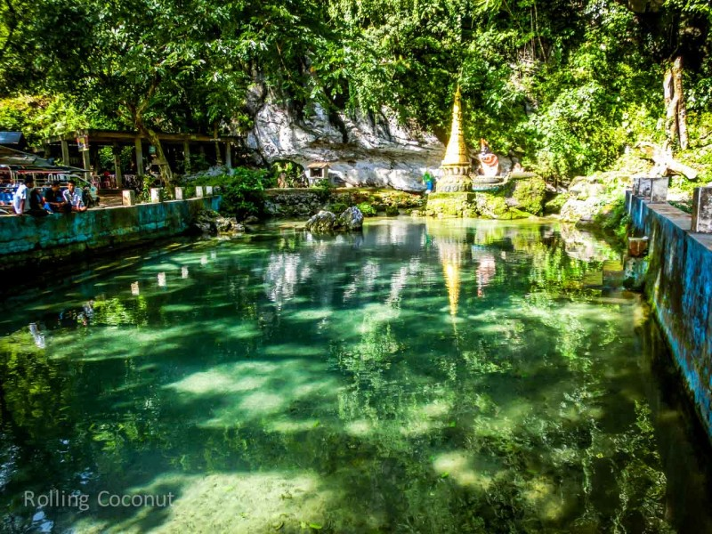 Swimming Hole in Hpa An Myanmar ooaworld Rolling Coconut Photo Ooaworld