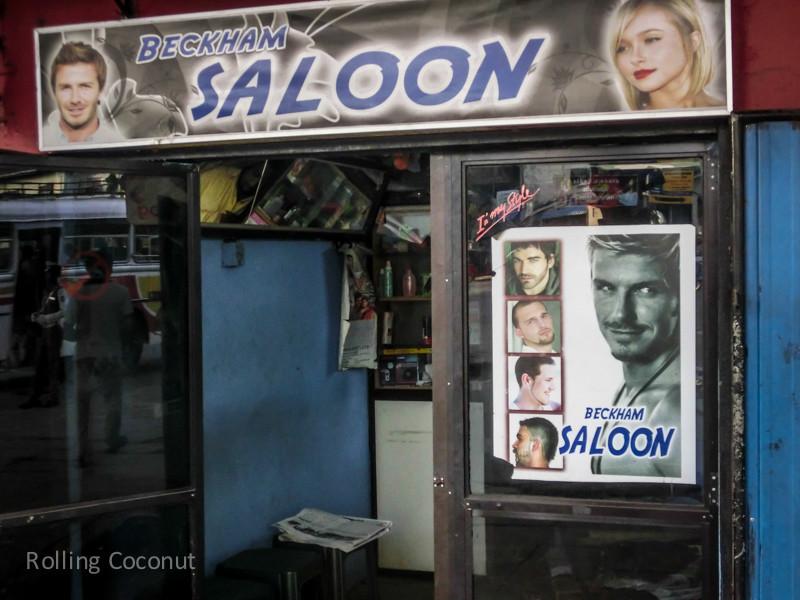 Beckham Saloon Hairdresser Colombo Sri Lanka ooaworld Rolling Coconut Photo Ooaworld