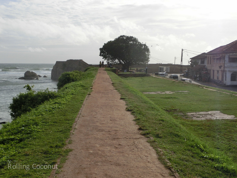 Galle Fort Walking Path Sri Lanka ooaworld Rolling Coconut Photo Ooaworld