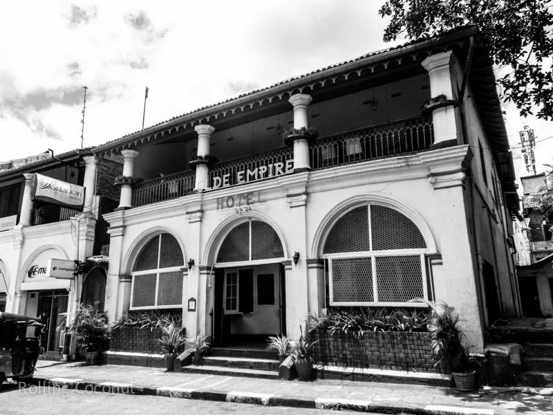 Kandy Olde Empire Hotel Facade Sri Lanka ooaworld Rolling Coconut Photo Ooaworld