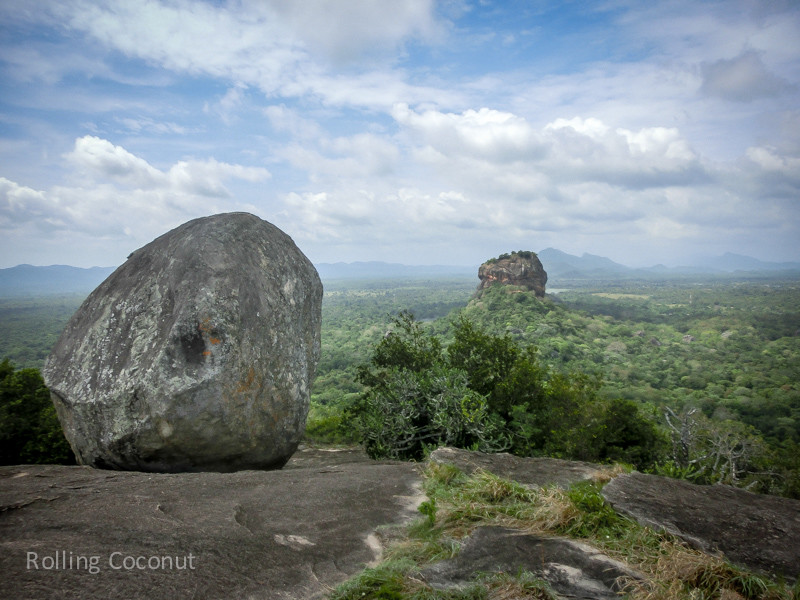 Rock on Pidurangala with view of Sigiriya Sri Lanka ooaworld Rolling Coconut Photo Ooaworld