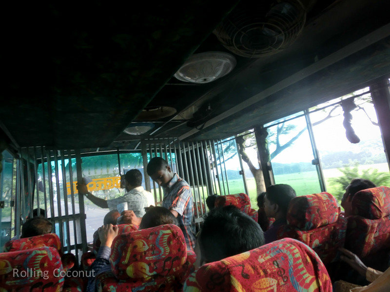 Bangladesh Cox's Bazar Bus from Mongla ooaworld Rolling Coconut Photo Ooaworld