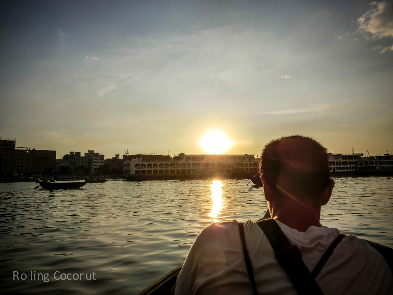 Bangladesh Dhaka Buriganga River Tour Sunset ooaworld Rolling Coconut Photo Ooaworld