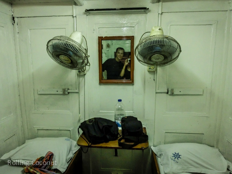 Bangladesh Rocket Steamer Second class Cabin ooaworld Rolling Coconut Photo Ooaworld