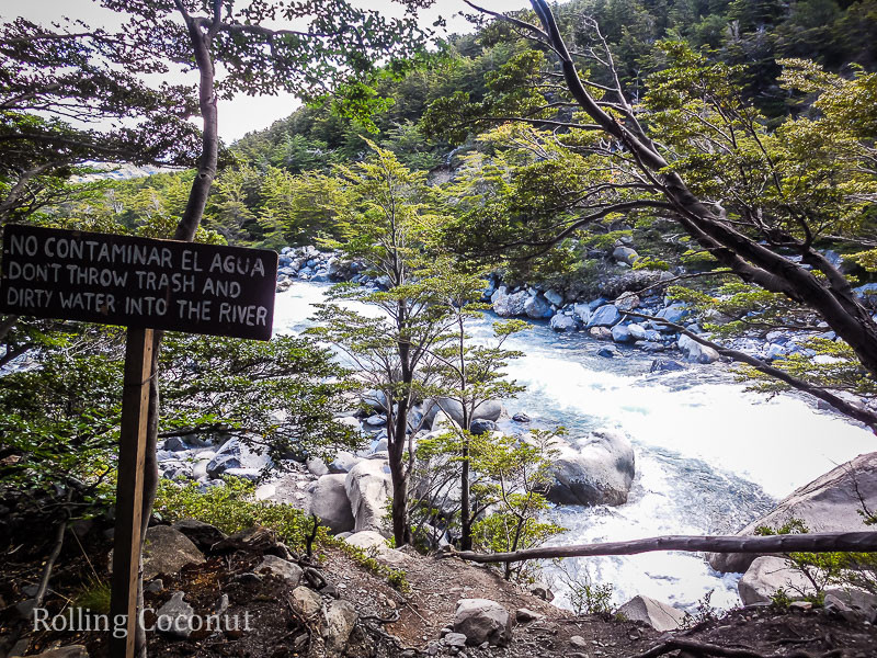 Torres del Paine Chile River Potable Rolling Coconut OOAworld Photo Ooaworld