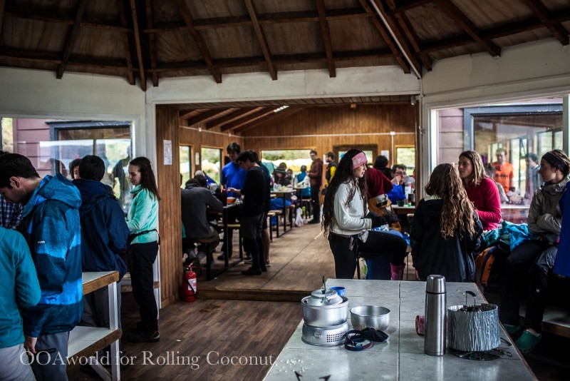 Torres del Paine Chile Refugio Grande Paine Kitchen Rolling Coconut OOAworld Photo Ooaworld