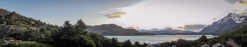 Torres del Paine Chile Refugio Los Cuernos Sunrise Panorama Rolling Coconut OOAworld Photo Ooaworld