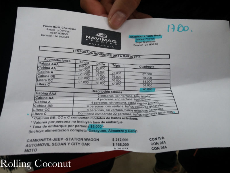 Chile Chiloe Naviera Austral Boat Schedule Rolling Coconut OOAworld Photo Ooaworld