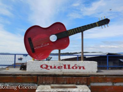 Chile Chiloe Quellon Guitar near Bus Station Rolling Coconut OOAworld Photo Ooaworld