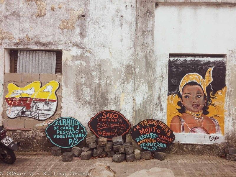 Street Art Colonia Uruguay Photo OOAworld Rolling Coconut