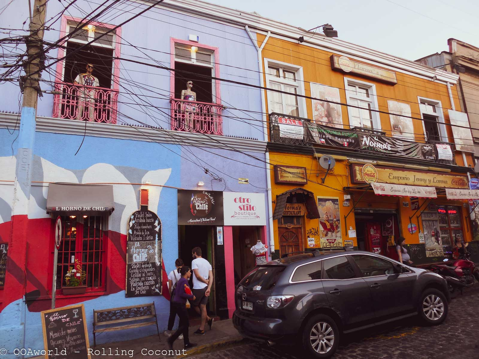 Bars and Shops Valparaiso Chile Photo Ooaworld Rolling Coconut