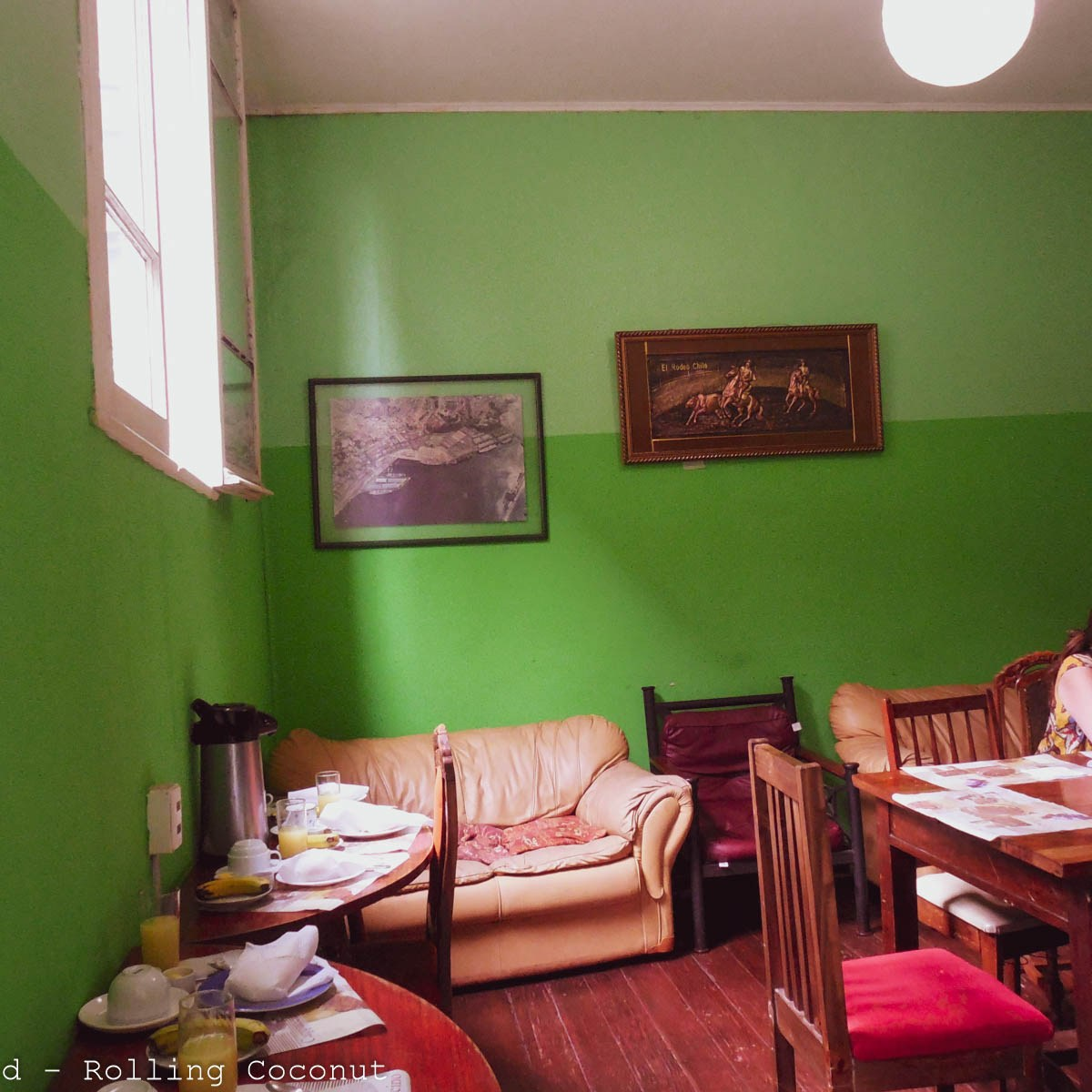 Hostal Chaptex Dining Valparaiso Chile Photo Rolling Coconut Ooaworld