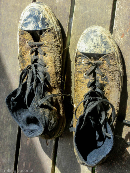 Mud shoes Danum Valley Borneo photo ooaworld Rolling Coconut