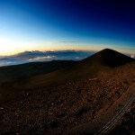 Hawaii, Maune Kea Observatory at dawn