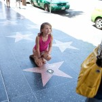 Los Angeles Hollywood Photos Girl posing in front of Johnny Depp