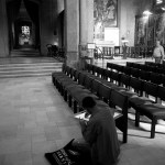 Drawing in the cathedral, San Francisco