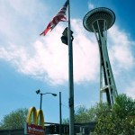 Seattle Needle Dollar Flag USA road trip photo ooaworld