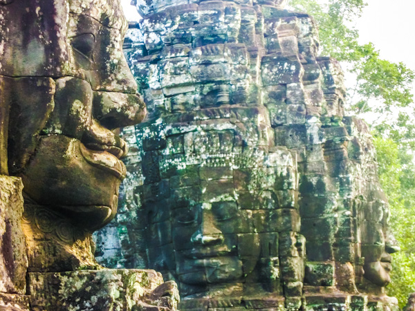 bayon faces temples cambodia photo ooaworld Rolling Coconut