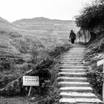 Going up to Longsheng's rice terraces