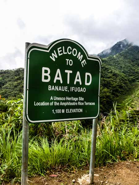 batad sign philippines photo ooaworld Rolling Coconut