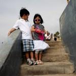Children with sunglasses, La Jolla