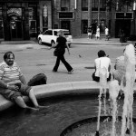 chicago Street Photography fountain unjoy