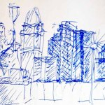 cincinnati skyline drawing art ooaworld ooaddle