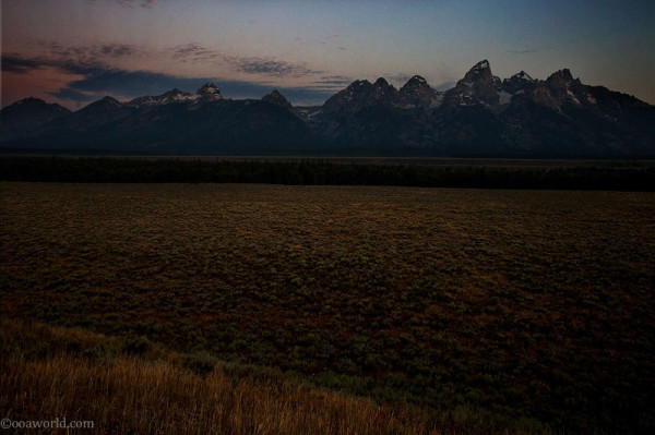 Grand Teton, sunrise dawn