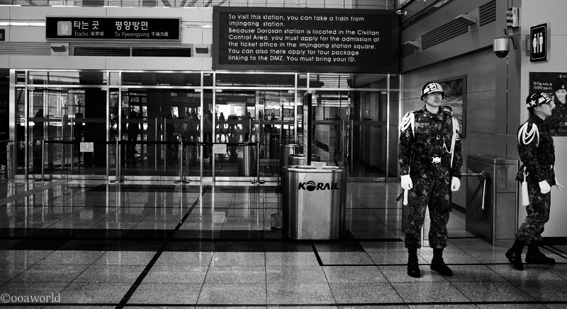 dmz south korea black and white soldier when two will unite photo ooaworld