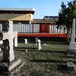 Train and cemetery, Atlanta