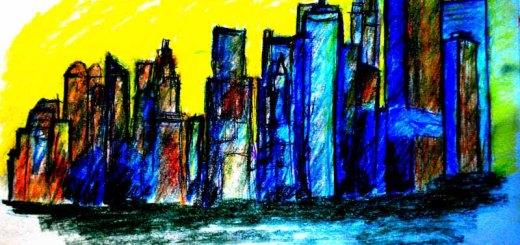 nyc skyline drawing art ooaworld ooaddle