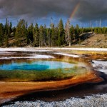 Photos Yellowstone Park Grand Teton Rainbow from Earth to Sky