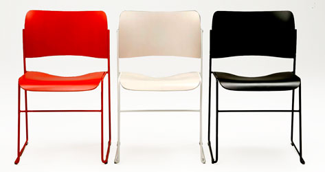 david rowland metal chair leather chairs and ottomans 40 4 classic stacking designed by
